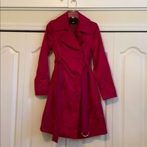 Massimo midi-coat dark pink size Small